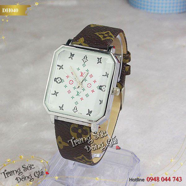 Đồng hồ LV thời trang nữ.