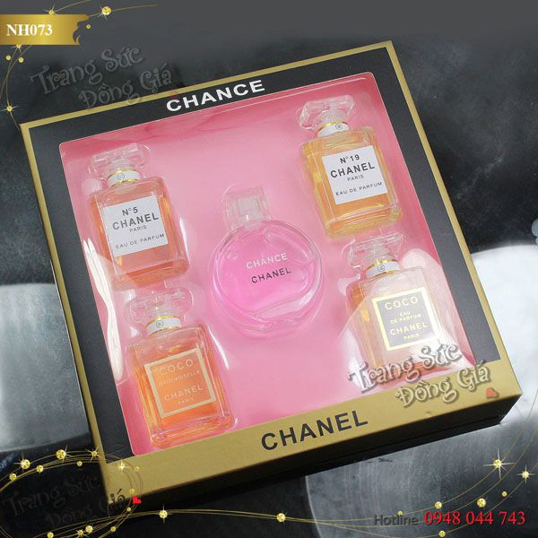 Nước hoa Chanel set 5chai for Her.