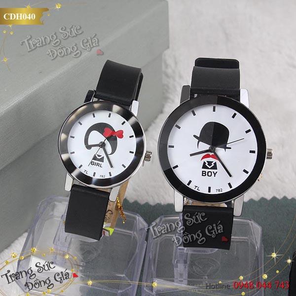 Đồng hồ cặp Boy & Girl xinh xắn.