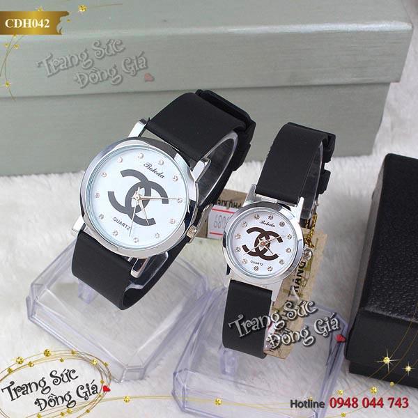 Đồng hồ cặp Chanel thời trang xinh xắn.