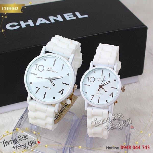 Đồng hồ cặp Quartz thời trang xinh xắn.