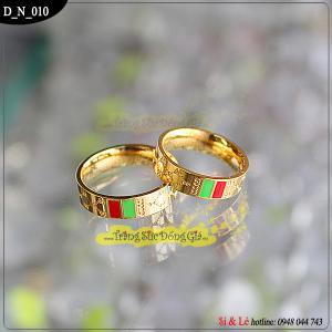 Nhẫn inox - Gucci mạ vàng 18k