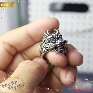 Nhẫn Inox thời trang nam hình đầu rồng.