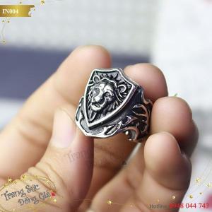 Nhẫn Inox thời trang nam hình Lion.